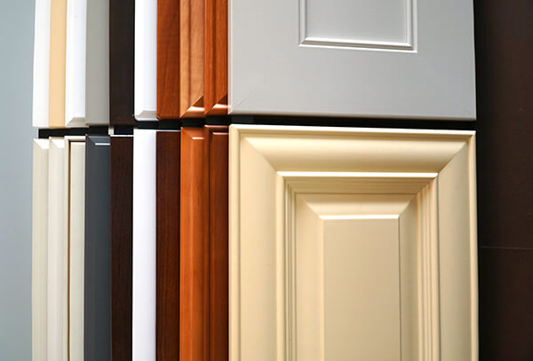 different color cabinets