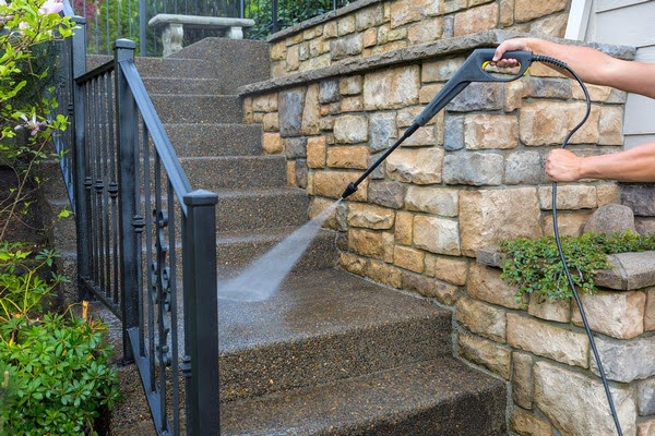 power washing steps before painting